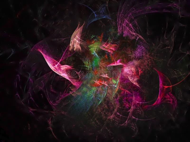 Fractal de moda de la plantilla colorida abstracta hermosa del estilo, fantasía del poder del anuncio designcreative stock de ilustración