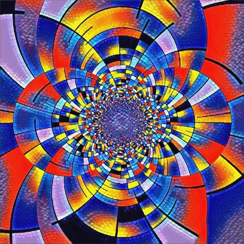 Fractal de Mondrian ilustração do vetor