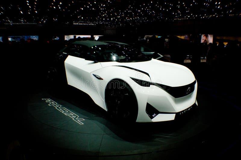 Fractal de Peugeot em Genebra 2016 fotos de stock