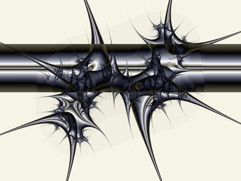 Fractal del chapoteo de la materia ilustración del vector
