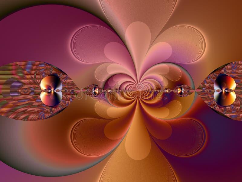 fractal del estilo de los años 60 stock de ilustración