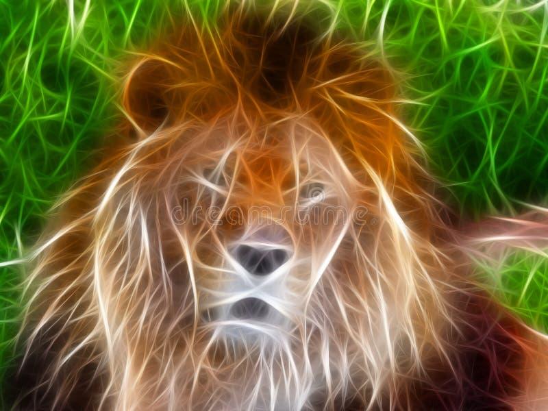 Fractal del león stock de ilustración
