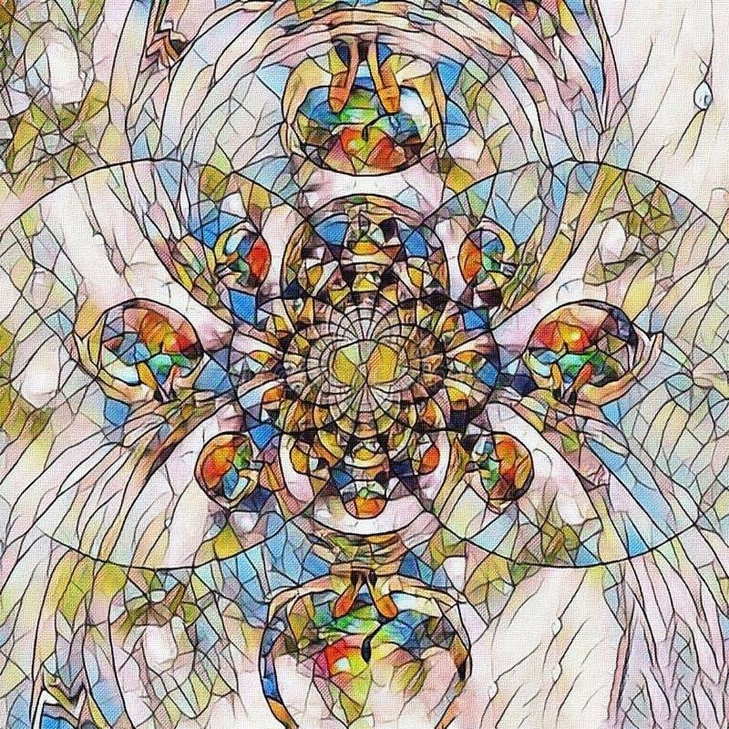 Fractal del mosaico libre illustration