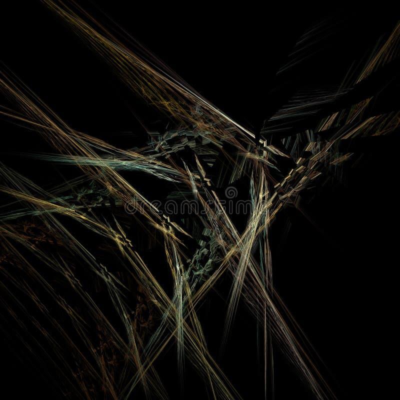 Fractal del web en negro stock de ilustración