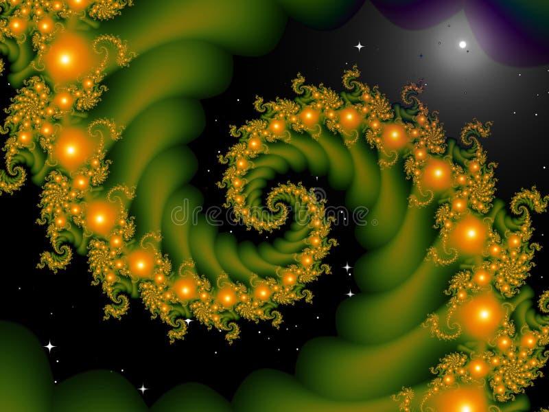 Fractal in den Sternen stock abbildung