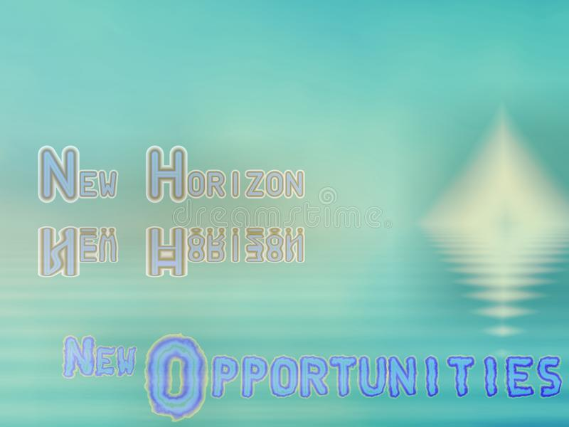 New horizon III. Fractal depicting opportunity from change based on reflection and sunrise vector illustration