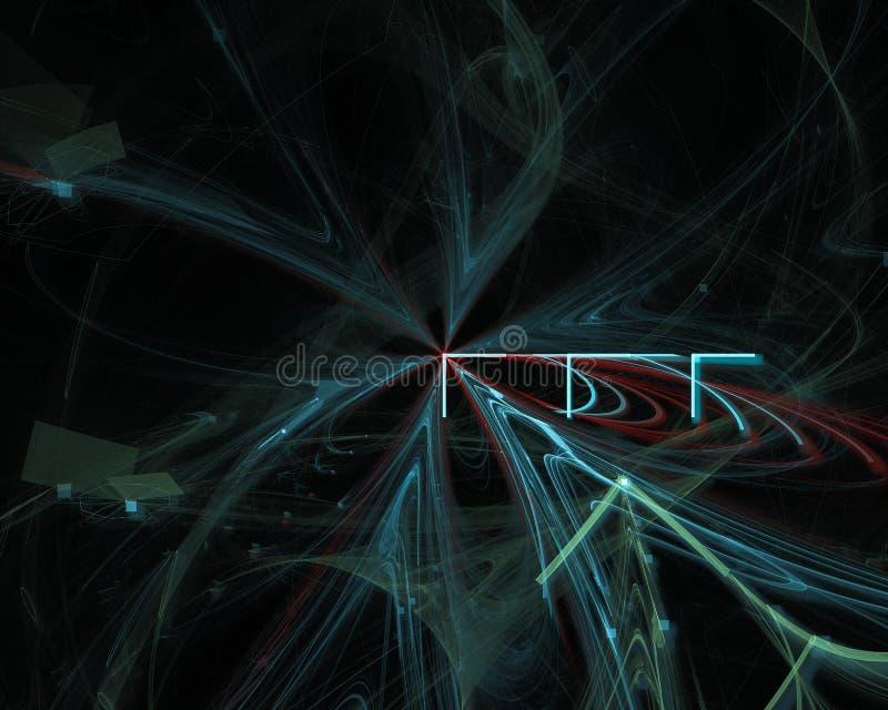 Fractal digital dinámico futuro del movimiento del extracto, imaginación del diseño del misterio del cartel del flujo, gráfic fotografía de archivo