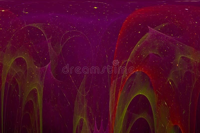Fractal digital ligero futurista gráfico del contexto del poder de onda del extracto creativo stock de ilustración