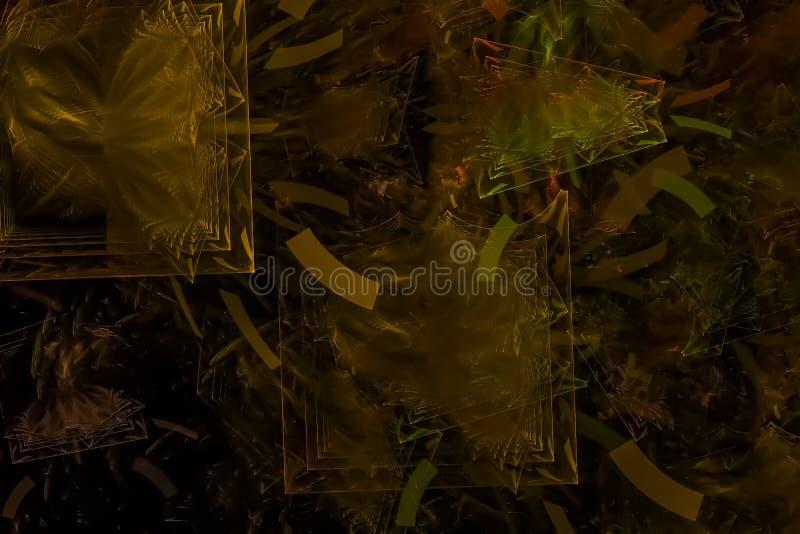 Fractal digital ligero futurista gráfico del contexto del poder de onda de la explosión del extracto creativo stock de ilustración