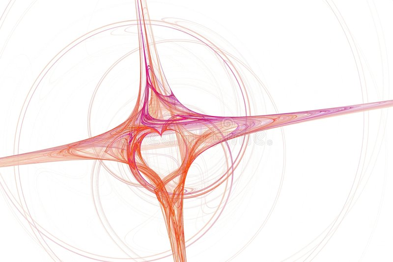 Fractal do coração e da cruz ilustração stock
