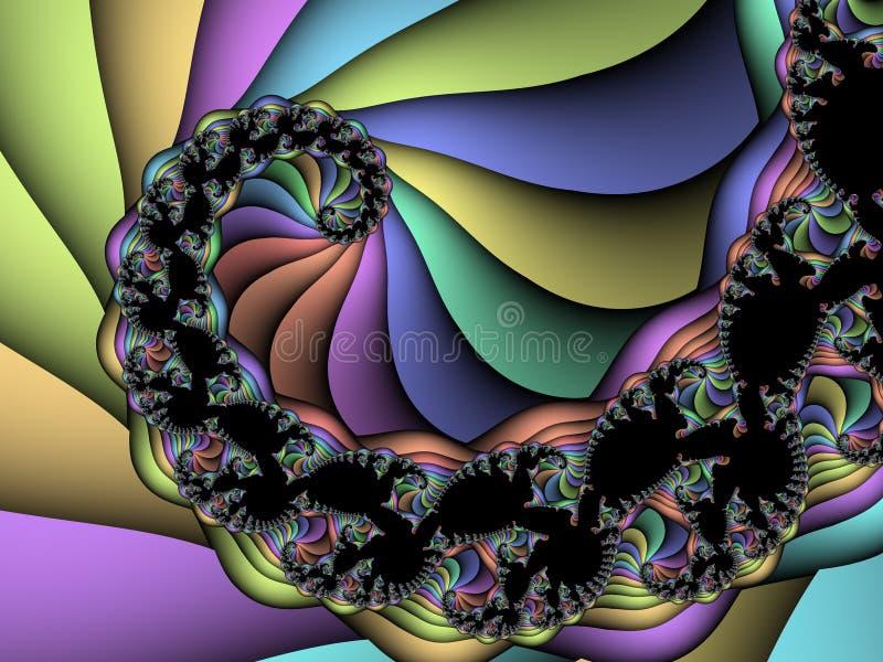 Fractal espiral stock de ilustración