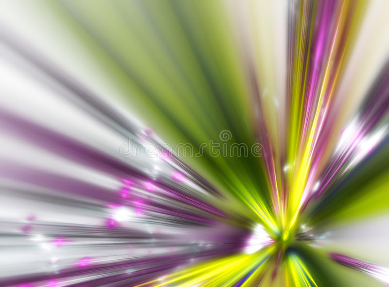 Fractal explosion vector illustration