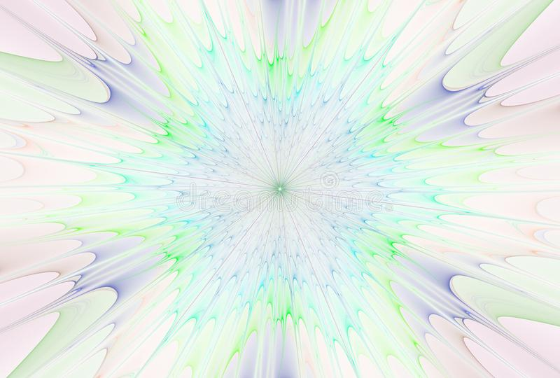 Fractal explosion star with gloss and lines royalty free illustration