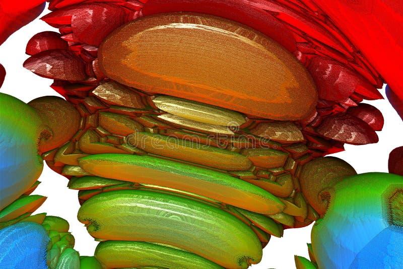 Fractal extranjero colorido de la estructura ilustración del vector