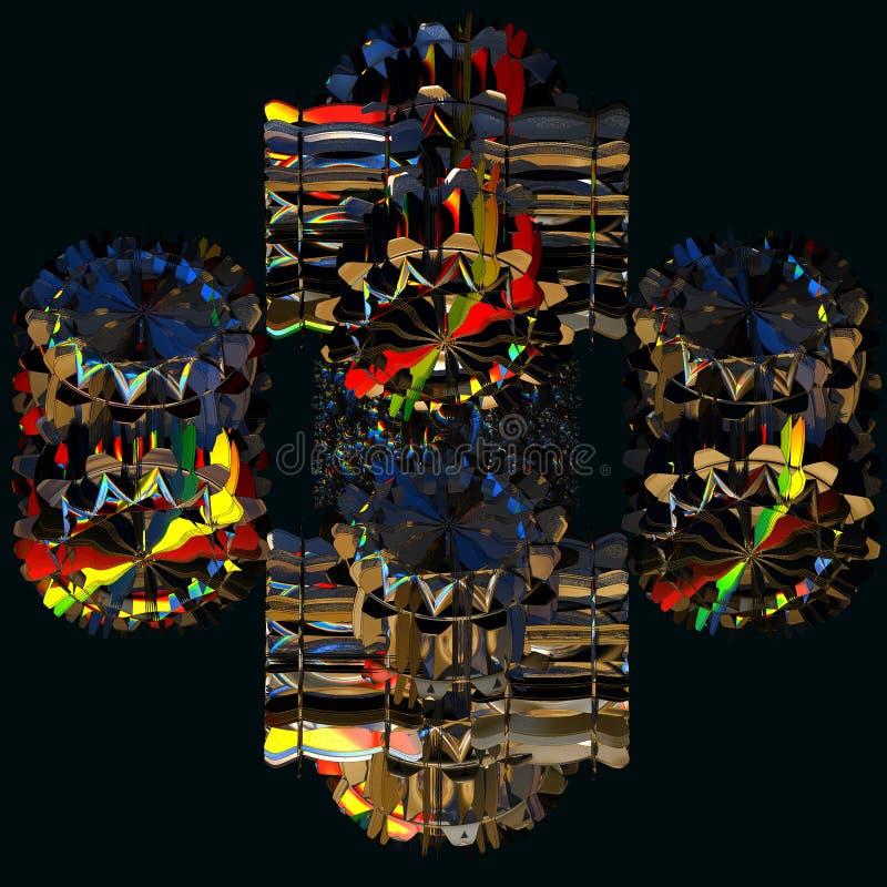 fractal för bakgrund 3d royaltyfri illustrationer