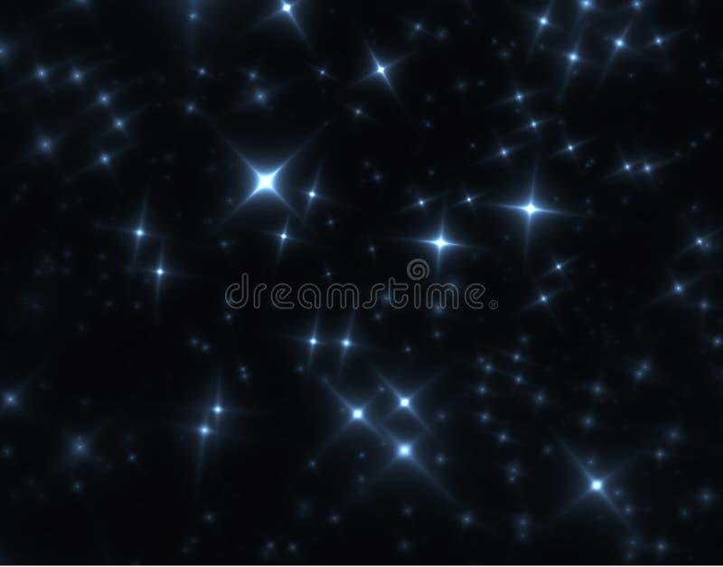 Fractal för nattsky royaltyfri illustrationer