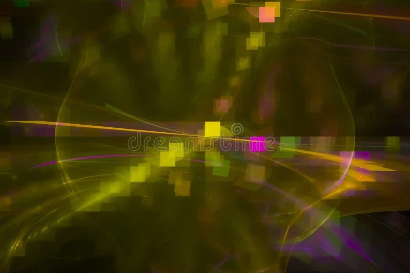 Fractal för universum för rörelse för aktuell samkopieringsmall modern vibrerande, utrymme, bakgrund, energi, abstrakt begrepp, d royaltyfri illustrationer