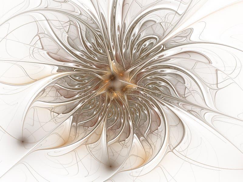 Fractal fantasie en artistieke bloem Mooie glanzende futuristische achtergrond royalty-vrije illustratie