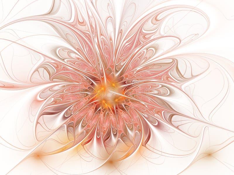 Fractal fantasie en artistieke bloem Mooie glanzende futuristische achtergrond stock illustratie