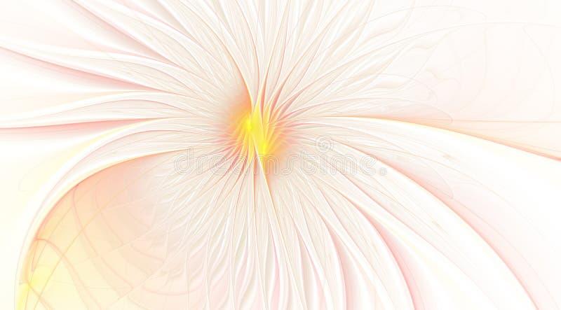 Fractal fantasie en artistieke bloem Mooie glanzende futuristische achtergrond vector illustratie