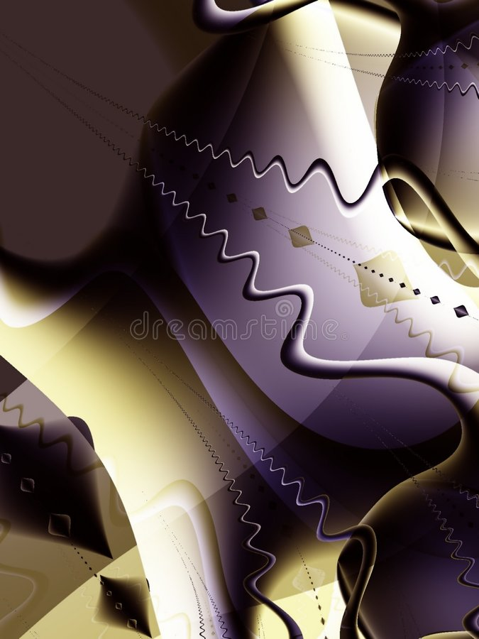 Fractal Fantasy World Artwork. Fractal art image takes you into a mysterious world of abstract shapes, colors, and elements. Ideal as a background, layer or stock illustration