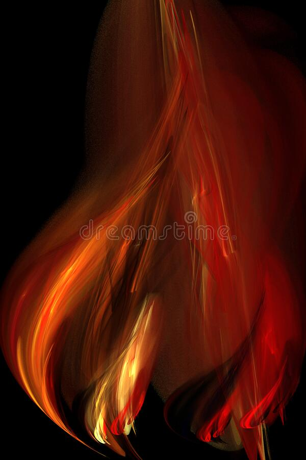 fractal flame royalty free stock photography