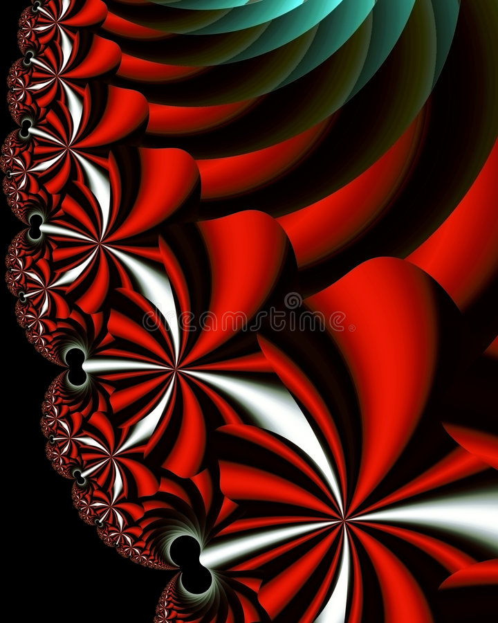 Download Fractal Flowers stock illustration. Image of tourquoise - 1040922