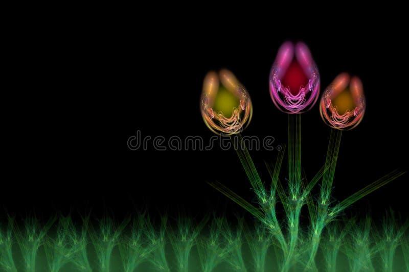 Download Fractal Flowers stock illustration. Illustration of light - 7671322