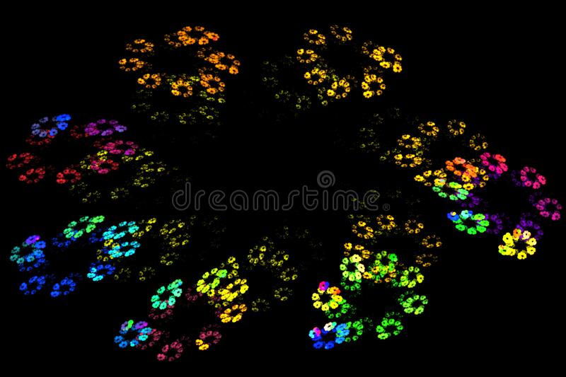 fractal flowers royalty free stock photo