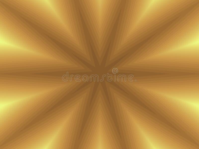 Fractal - fondo de la estrella del oro libre illustration