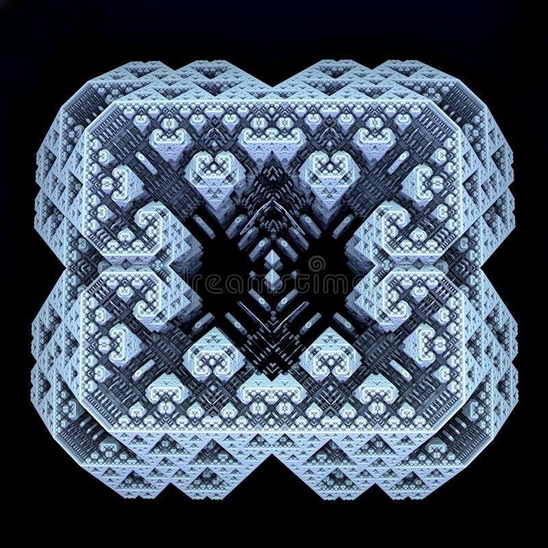 fractal generado 3D del scifi stock de ilustración