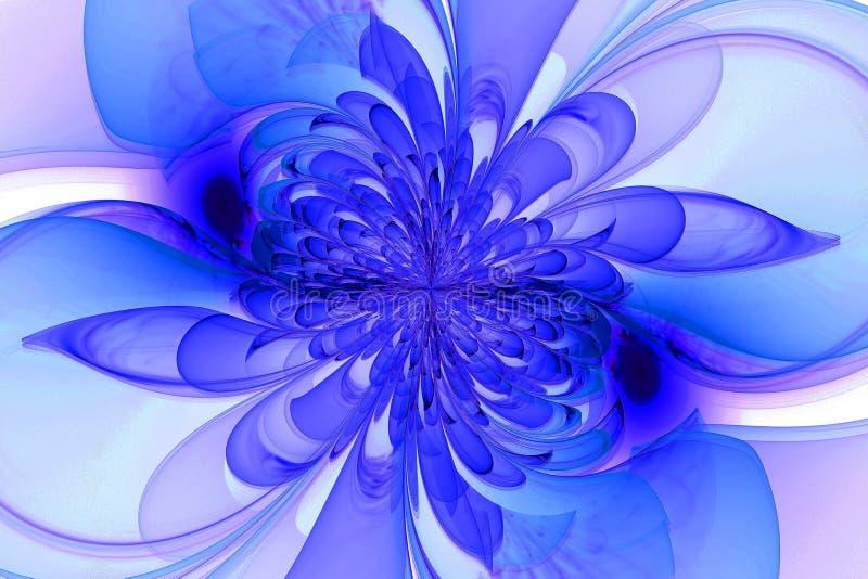 Fractal generado por ordenador con la flor imagen de archivo