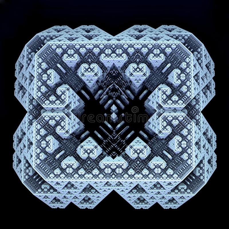 fractal gerado 3D do scifi ilustração stock