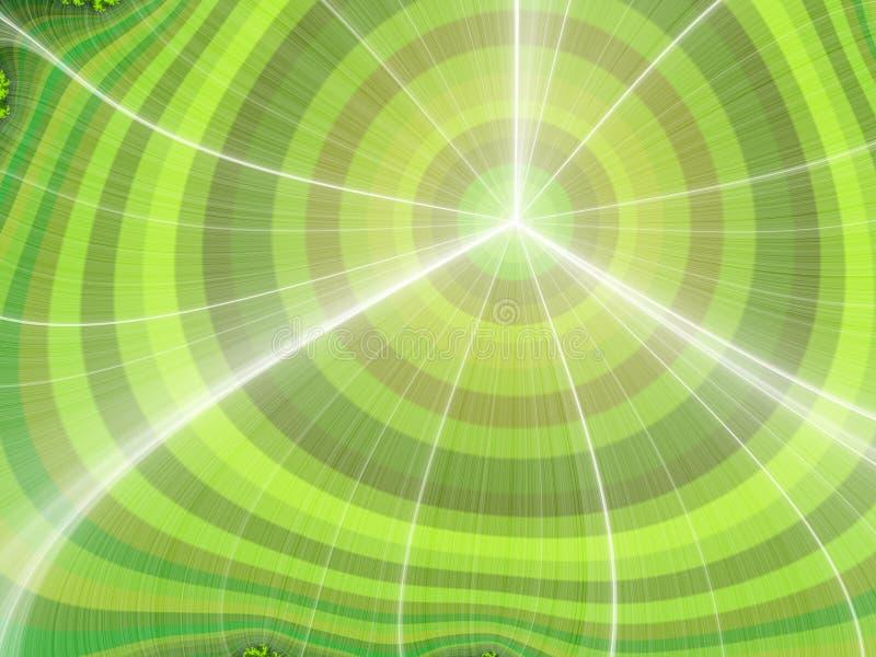 Fractal gloeiende golvende achtergrond vector illustratie