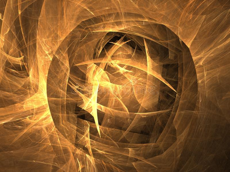 The fractal Golden globe royalty free stock photography