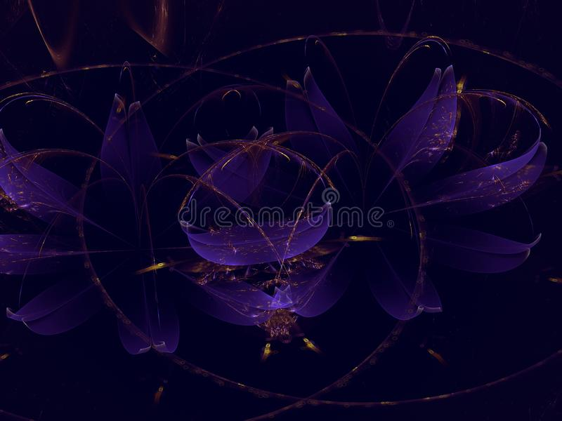 Fractal grafiki nauki abstrakcjonistycznego nowożytnego energetycznego fantastycznego tła tajemniczy szablon ilustracja wektor