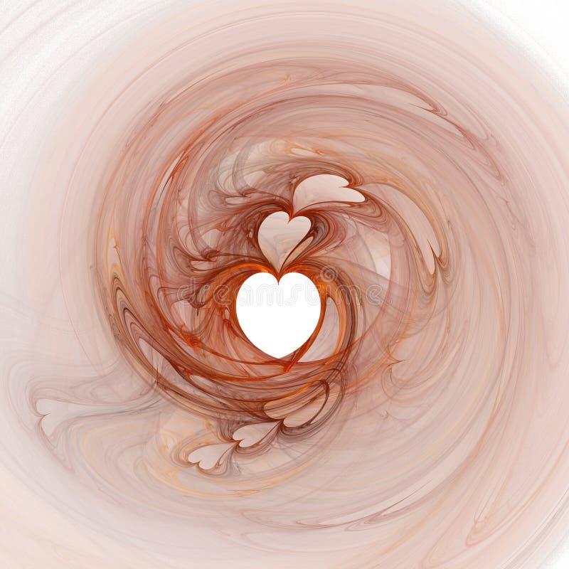 Fractal hart vector illustratie