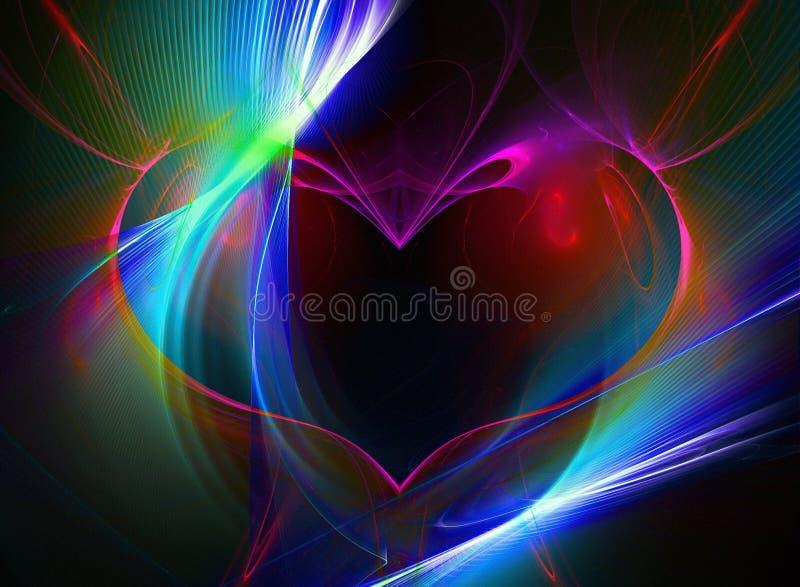 Fractal hart royalty-vrije illustratie