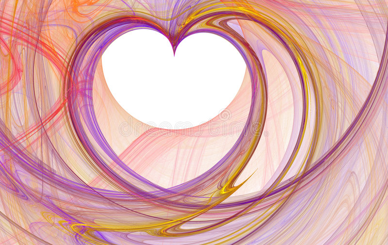 Fractal heart stock illustration