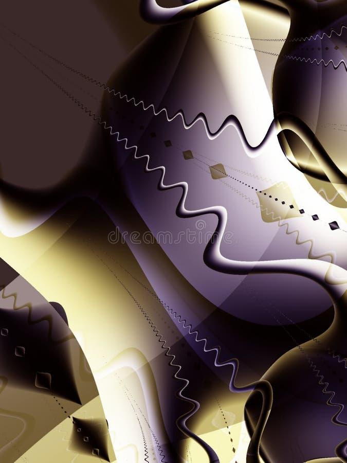 Fractal het Kunstwerk van de Wereld van de Fantasie stock illustratie