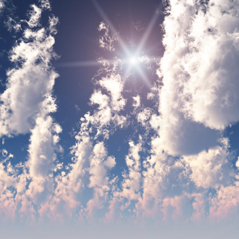 Fractal High Cumulus Clouds stock images