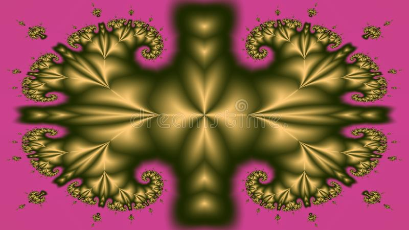 Fractal bound by muscle stock photography