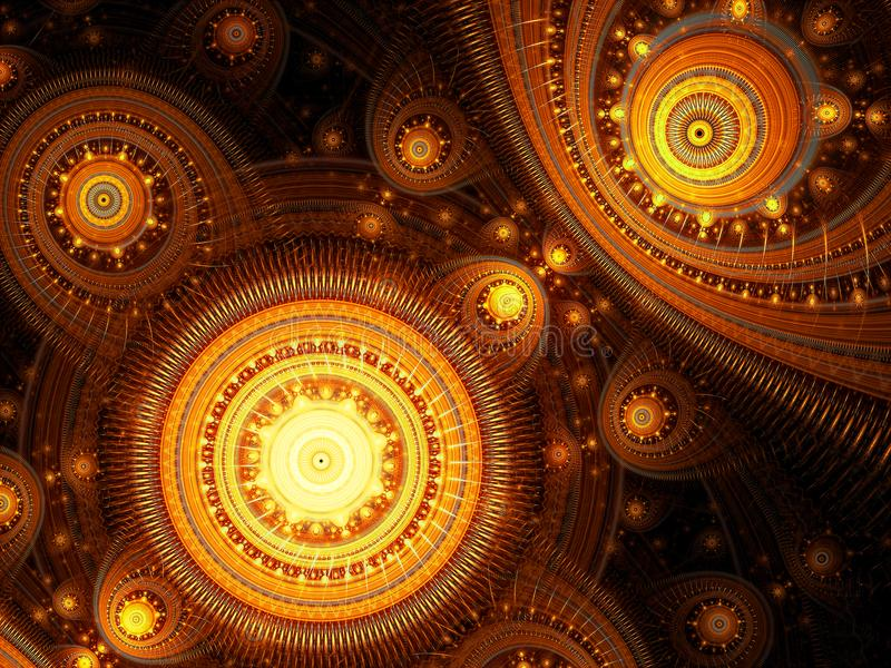 Mystical fractal background - abstract digitally generated image royalty free stock photos
