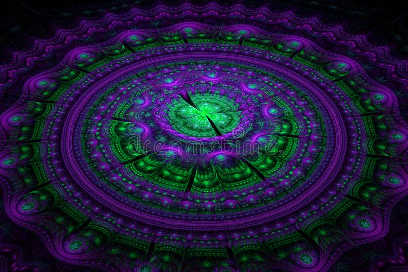 Fractal julian concentric circles wave royalty free stock photography