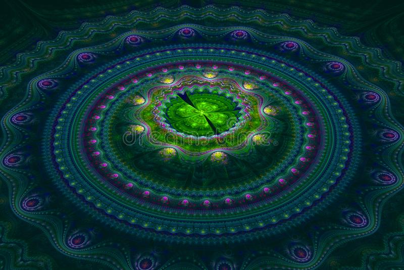 Fractal julian concentric circles wave royalty free stock photo
