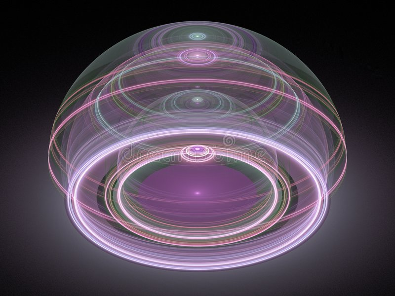 Fractal juliano magnífico óptico 08 del arte 3D stock de ilustración
