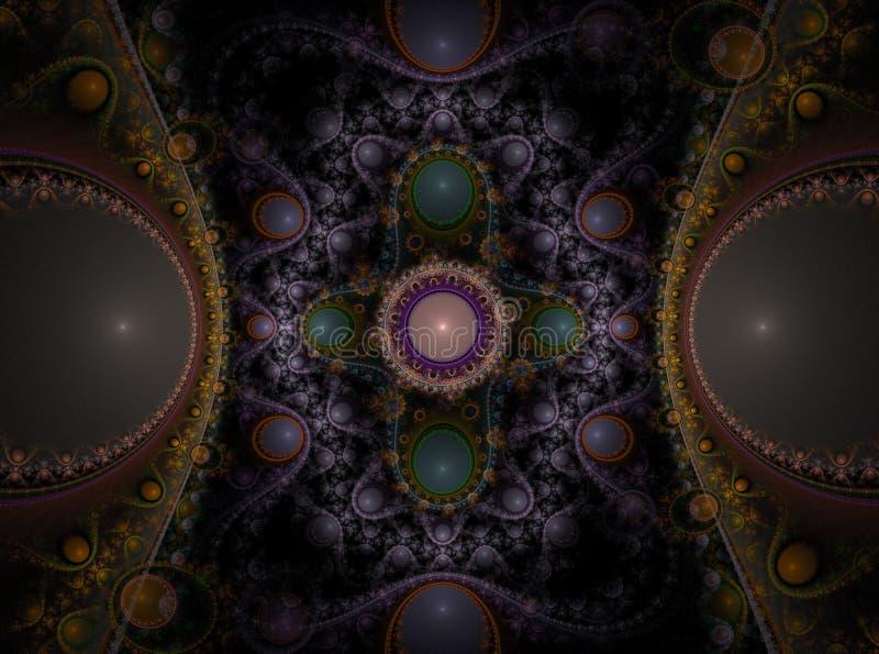 Fractal juliano magnífico 10 del arte óptico ilustración del vector