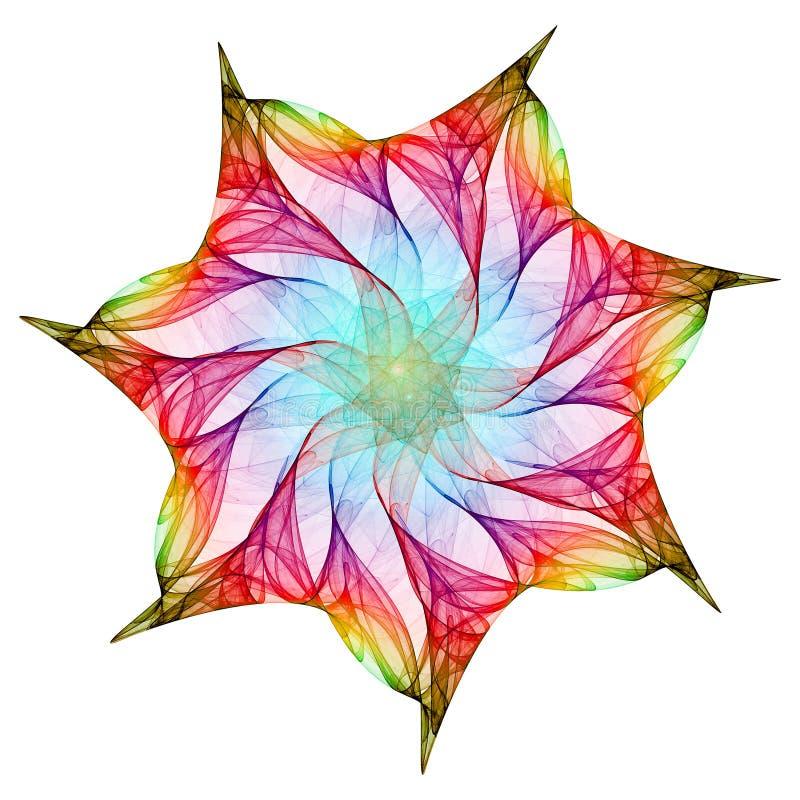 fractal kalejdoskop ilustracja wektor