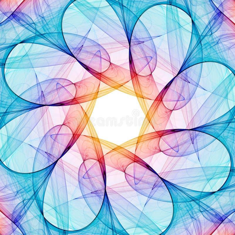 fractal kalejdoskop royalty ilustracja