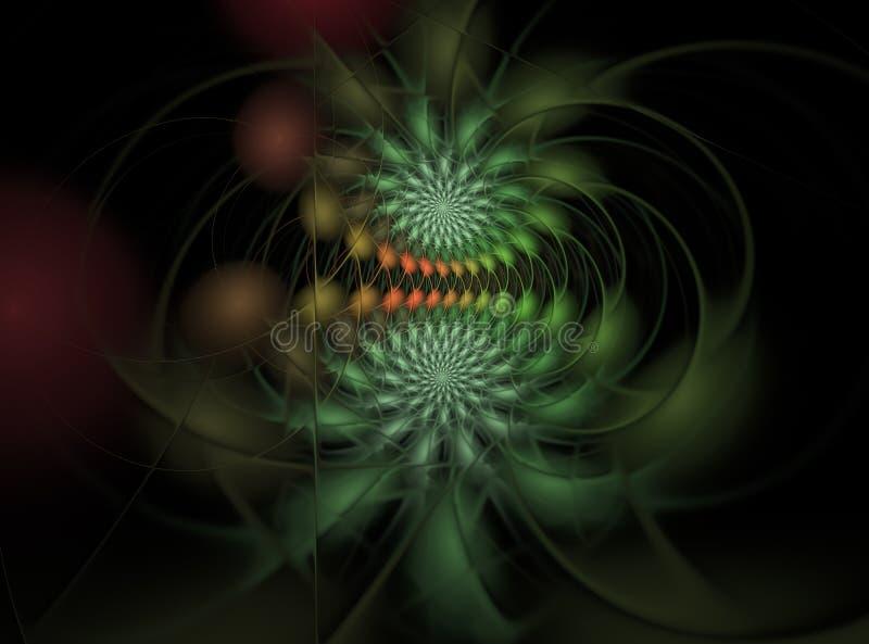 Fractal komputer wytwarzający drapieżnik ilustracji